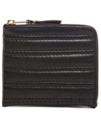 Comme des Garçons - Embossed Stitch Small Zip Wallet - Lyst