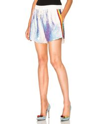 Ashish - Sequin Shorts W/ Rainbow Stripe - Lyst