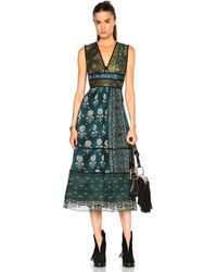 Burberry Prorsum - Geometric Floral Print Silk Crepon Dress - Lyst