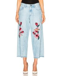 Frankie - Embroidered Relaxed Crop - Lyst
