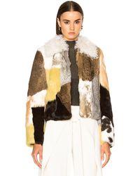 Proenza Schouler Rabbit Patchwork Fur Jacket - Multicolor