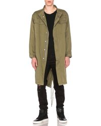 Stampd Elongated Military Parka - Green