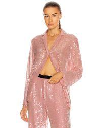 Markarian Zyphyrus Sequin Pajama Top - Pink