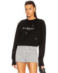 Givenchy Crew Neck Sweatshirt - Black