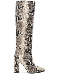 Paris Texas Knee High Python Print Boot - Mehrfarbig