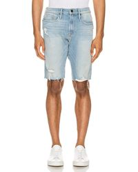 FRAME L'Homme Cut Off Short - Blau