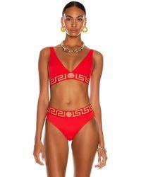 Versace Sport Bikini Top - Rot