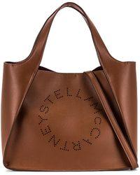 Stella McCartney Logo Crossbody Bag - Braun