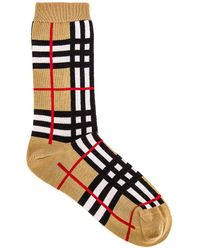 Burberry Classic Check Sock - Natural