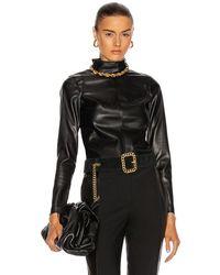 Alexis Peri Vegan Leather Top - Black