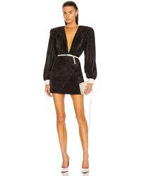 Daniele Carlotta Pleated Mini Dress - Black