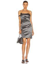 Helmut Lang Satin Mini Dress - Multicolor