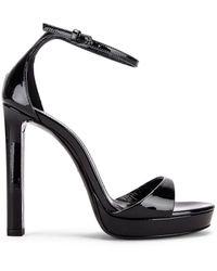 Saint Laurent Hall Ankle Strap Sandals - Schwarz