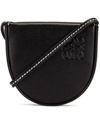 Loewe Heel Mini Leather Pouch - Black