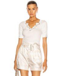 Chloé Mosaic Tie Short - White