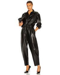Agolde Vegan Leather 80's Jumpsuit - Black