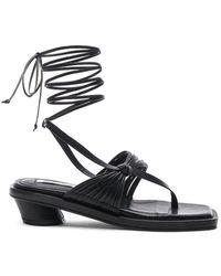 Reike Nen Unbalanced String Sandal - Black