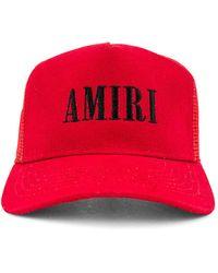 Amiri Core Logo Trucker Hat - Red