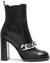 Givenchy | Semi Shiny Chain Leather Chelsea Boots | Lyst