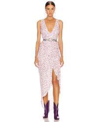 Nicholas Kleid mit drapierter Vorderseite - Mehrfarbig