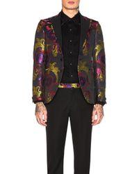 13906e04c Gucci Black Velvet Evening Duke Jacket in Black for Men - Lyst