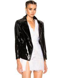 Zeynep Arcay | Patent Leather Oversized Biker Jacket In Black | Lyst
