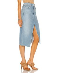 Citizens of Humanity Aubrey Front Slit Maxi Skirt - Blue