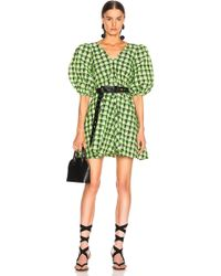 Seersucker Checker Dress - Green
