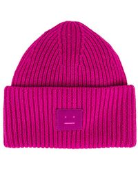 Acne Studios Pansy Face Beanie - Pink