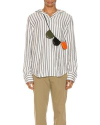 Loewe Hooded Stripe Shirt - White
