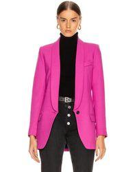 Smythe Long Shawl Blazer - Purple