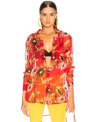 1aa07f57 Equipment Daddy Floral Cotton & Silk Shirt in Black - Lyst