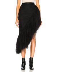 Rodarte - Tulle & Black Pearl Asymmetric Ruffle Skirt - Lyst