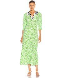 RIXO London Mia Dress - Green