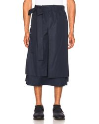 Craig Green - Layered Cotton Track Shorts - Lyst