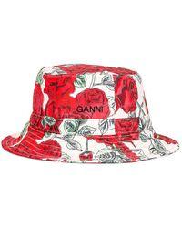 Ganni Seasonal Recycled Tech Hat - Rot