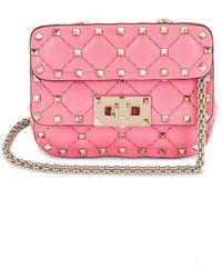 Valentino Garavani Micro Rockstud Spike Shoulder Bag - Pink