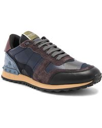 Valentino - Camouflage Rockrunner Trainers - Lyst
