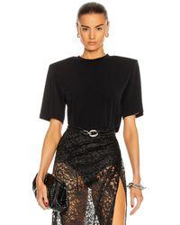 Daniele Carlotta Padded Shoulder Jersey T-shirt - Black