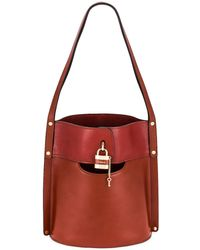 Chloé Aby Bucket Bag - Red