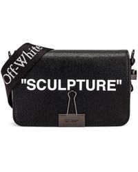 Off-White c/o Virgil Abloh Sculpture Mini Flap Bag - Schwarz