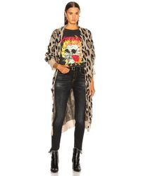 R13 Long Leopard Cardigan - Multicolour