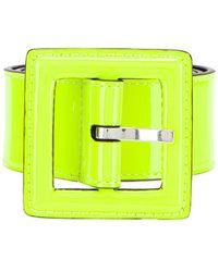 Saint Laurent Patent Leather Belt - Gelb
