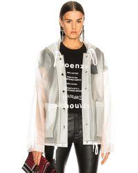 Proenza Schouler Short Raincoat - White
