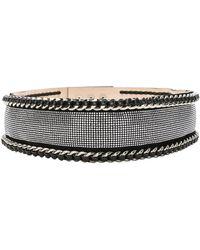 Balmain High Waist Chain Belt - Black