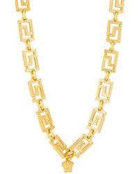 Versace Logo Necklace - Metallic