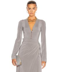 Lemaire Long Sleeve Bodysuit - Grey