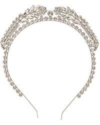 Alessandra Rich Crystal Wreath Headband - Metallic