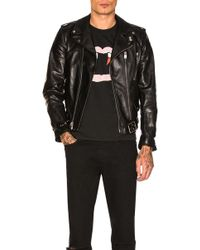 Saint Laurent Leather Jacket - Black