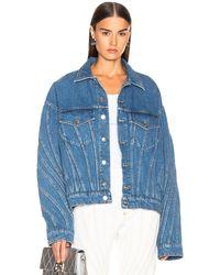 Mugler Oversized Denim Jacket - Blue